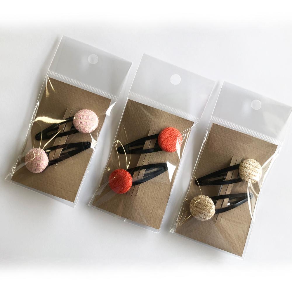 GOZAN KYOTO ヨーロッパの生地で作った手作りヘアピン 2個セット